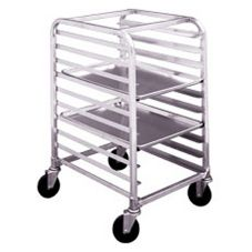 Win-Holt® AL-1810/H-KD Knock Down Aluminum 10-Bun Pan Rack