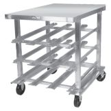 Win Holt® Mobile Can Dispensing Aluminum Rack / Work Station