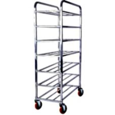 Win-Holt® UNAL-7-32 Aluminum 7-Shelf Universal Cart with Casters