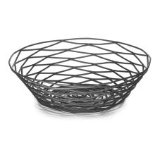 "Tablecraft BK17508 Artisan Collection 8"" Black Metal Basket"