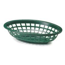 """TableCraft 1071FG 7-3/4"""" Forest Green Side Order Basket - Dozen"""