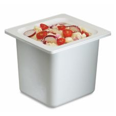 San Jamar® Chill-It® White 1/6-Size Food Pan