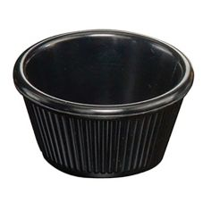 American Metalcraft MRF250BL Fluted-Sided Black 2 Oz Melamine Ramekin