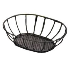 American Metalcraft Straight Sided Wrought Iron Basket w/ Mesh Bottom