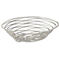 "American Metalcraft FRUC16 9 x 6"" Chrome Wire Birdnest Basket"