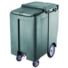 Cambro ICS200TB192 Granite Green 200 Lb Mobile Sliding Lid Ice Caddy