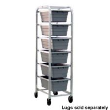 New Age Industrial 6263 Mobile Open-Design 6 Lug Capacity Rack