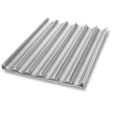 Chicago Metallic Uni-Lock™ Perf. Aluminum 6-Mold Baguette Pan