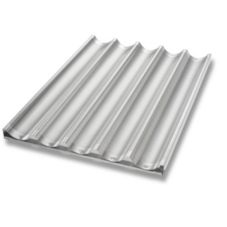 Chicago Metallic Uni-Lock™ Perf. Aluminum 5-Mold Baguette Pan