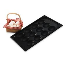 Vollrath Black S/S Non-Stick 21 x 13 x 1 Egg Poacher Pan