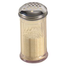 American Metalcraft SAN319 Clear Plastic Cheese Shaker with X-L Holes