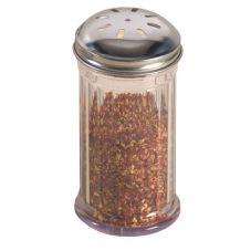 American Metalcraft SAN317 Clear Plastic 12 Oz Spice Shaker with Lid