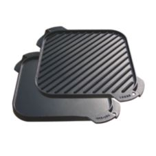 "Lodge® LSRG3 10-1/2"" Single Burner Reversible Griddle"