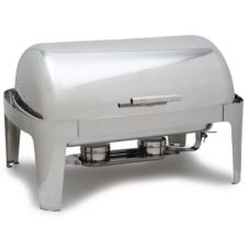 Carlisle 609576 Times Square 8 Qt. Roll Top S/S Chafer