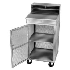 Win-Holt® OTE-2224-GY Gray Metal Lockable Receiving / Shop Desk