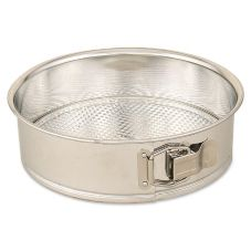 "Browne Foodservice 9 9.25"" Polished Tin Springform Cake Pan"