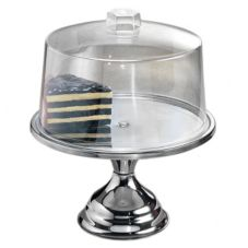 American Metalcraft Cake Stand and Cover Set