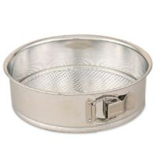 "Browne Foodservice Polished Tin 11"" Spring Form Cake Pan"