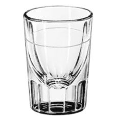 Libbey 5126/A0007 Lined Fluted 2 oz Whiskey Glass - 12 / CS