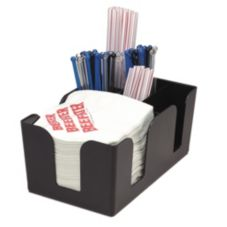Co-Rect® BR0005/150 Rectangle Plastic Black Bar Caddy