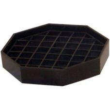 "Bar Maid® CR-1440 Trivet Style Black Octagon 6"" Drip Catcher"