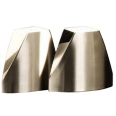 American Metalcraft Triangular S/S Salt And Pepper Shaker Set w/ Base