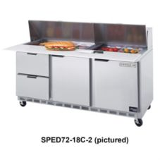 Beverage-Air SPED72-12C-2 Elite Refrigerated Counter with 2 Drawers