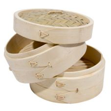 """Town Food Service 34206 6"""" Bamboo Steamer Set"""