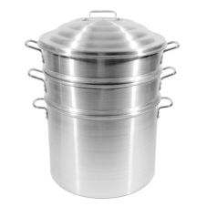 "Town Food Service 14"" Aluminum Steamer Set"