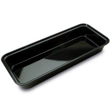 Delfin BRC-156-10 2.5 Qt. Black Rectangular Market Bowl