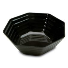Delfin 3 Qt. Black Spiral Ring Bowl