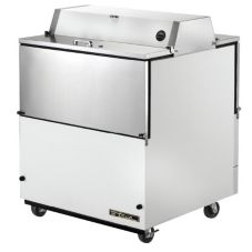True® Dual Sided S/S and White Vinyl 13.8 Cu Ft Milk Cooler