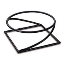 "Delfin PDSQ-9 9.75"" x 9.75"" Santa Fe Round / Square Pedestal"