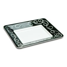 "Delfin 12"" x 10"" x 1.5"" White Sorrento Tray"