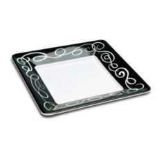 "Delfin TSQ-12SO-020 12"" x 12"" x 1.5"" White Square Sorrento Tray"
