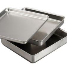 "American Metalcraft SQ820 Square 8 x 8 x 2"" Aluminum Pan"