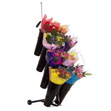 "Floralware TMM-8 Mobile Floral Merchandiser With 13"" Vases"