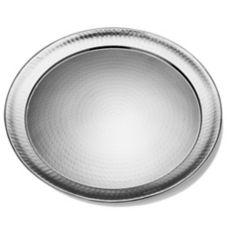 """American Metalcraft HMRST2201 22"""" Round Hammered S/S Platter"""
