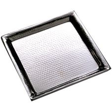 "American Metalcraft HMSQ22 22"" Square Hammered S/S Tray"