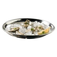 "American Metalcraft HMRST1301 13-1/2"" Round Hammered S/S Tray"