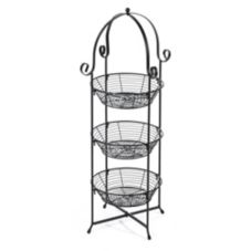 "Round 3-Tier Wire Display Basket, 11-1/2"" x 30"""