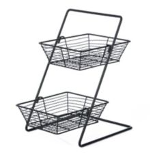 "Willow Specialties 823154 10"" x 10"" x 16"" 2-Tier Display Stand Set"