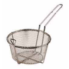 "Browne Foodservice B090 8.5"" Nickel Plated Wire Round Fry Basket"