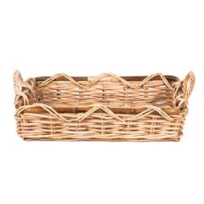 "Willow Specialties 911037 22"" x 14-1/2"" Rattan Tray With Handles"