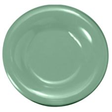 "Thunder Group CR007GR Green Melamine 8"" Plate - 12 / CS"