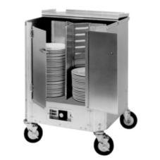 CresCor HJ-531-10-240 240 Plate Capacity Enclosed Heated Dish Dolly