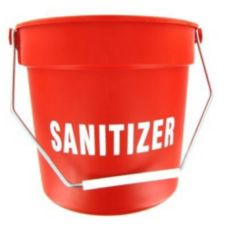 Red Plastic Imprinted 10 Qt Bucket