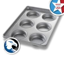 "Chicago Metallic Bakeware #1006 4"" Bun and Roll Pan"