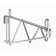 "Metro® Super Erecta® Post Mount 18"" Chrome Shelf Support"