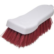 "Carlisle® 4052105 6"" Red Polyester Hand Scrub Brush"